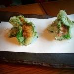 Uni Shiso tempura